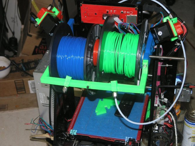The Pursa I3 Dual Spool Holder And Filament Driver Sneek Peek 3D Print 38577