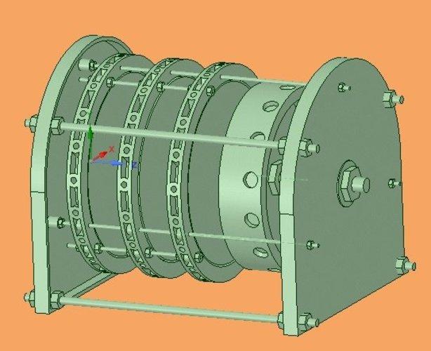 3d printed perendev magnet motor with generator by kb3lnn pinshape