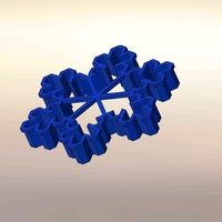 Small Cookie cutters - Snowflake - 3 PCS- 70, 60 mm (Free) 3D Printing 388159