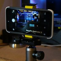 Small Tripod Mount for iPhone 6 Plus with Thule Atmos X3 3D Printing 38880