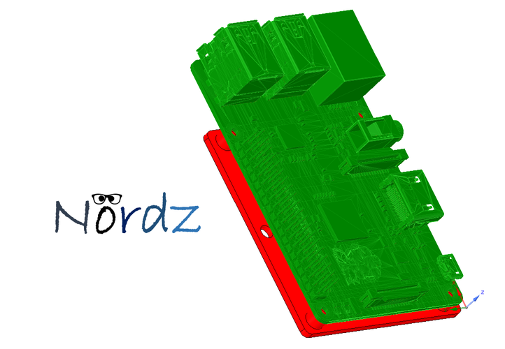 Raspberry Pi 2 wall mount 3D Print 38965