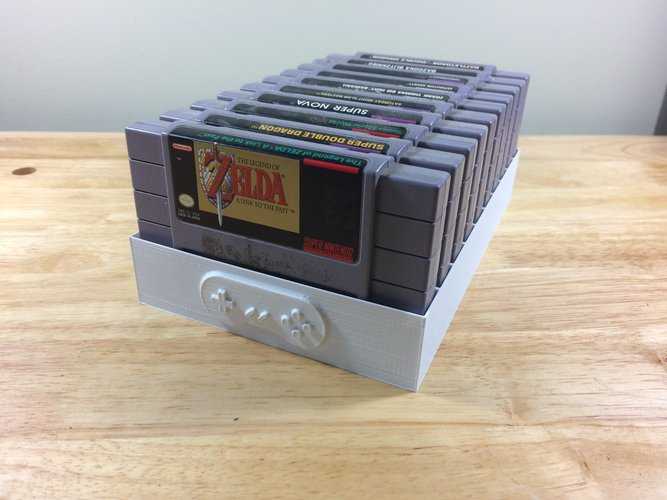 Super Nintendo Game Tray, 10 Games, SNES 3D Print 39007