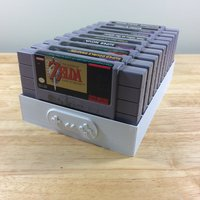 Small Super Nintendo Game Tray, 10 Games, SNES 3D Printing 39007