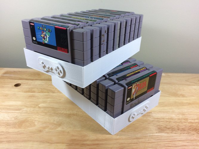 Super Nintendo Game Tray, 10 Games, SNES 3D Print 39008
