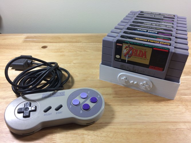 Super Nintendo Game Tray, 10 Games, SNES 3D Print 39010