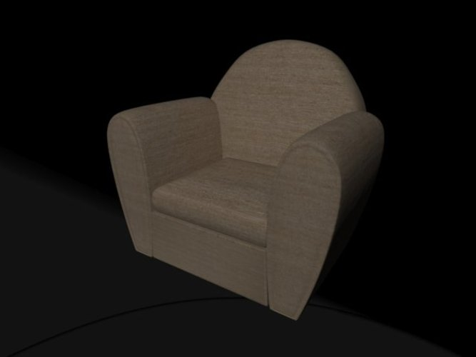Pool Room couch 3D Print 39025