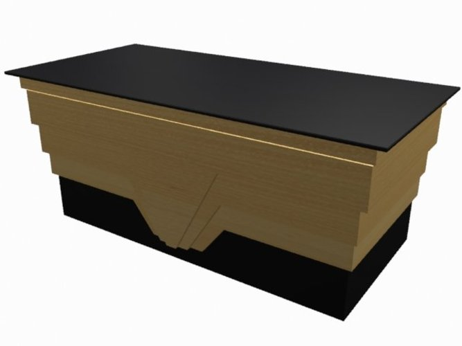 Art Deco Reception Desk 3D Print 39029
