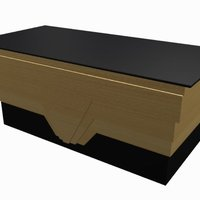 Small Art Deco Reception Desk 3D Printing 39029