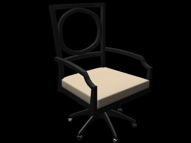 Art Deco Reception Chair 3D Print 39030