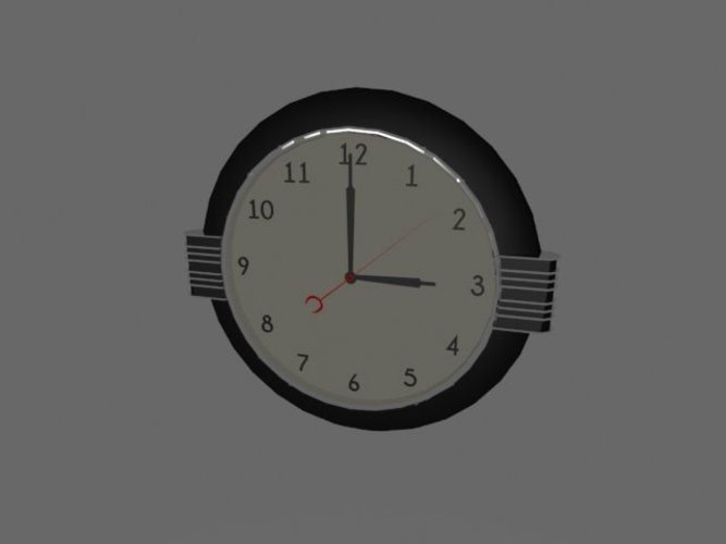 Art Deco Clock 3D Print 39035