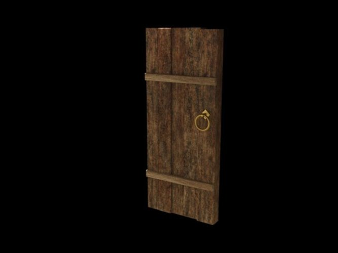 Old medieval door 3D Print 39048 & 3D Printed Old medieval door by aaroninclub   Pinshape