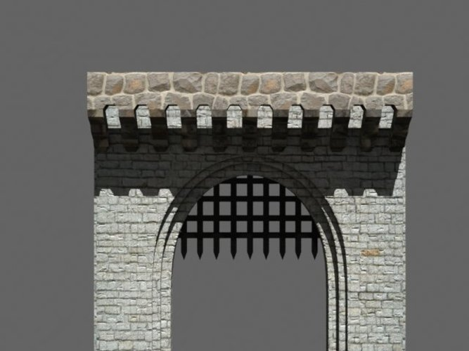 medieval front gate 3D Print 39049