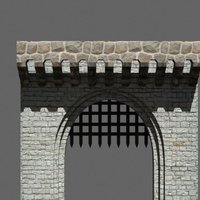 Small medieval front gate 3D Printing 39049