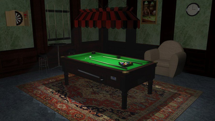 A Pool Table 3D Print 39054