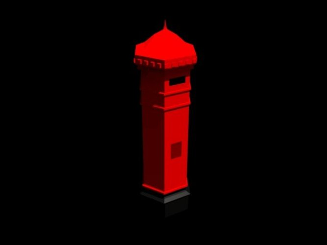 Old english letter box 3D Print 39056