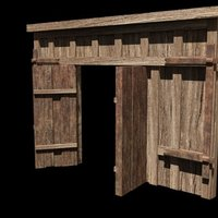 Small A medieval entrance front 3D Printing 39061