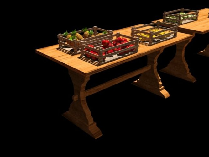 A fruit market / table 3D Print 39062