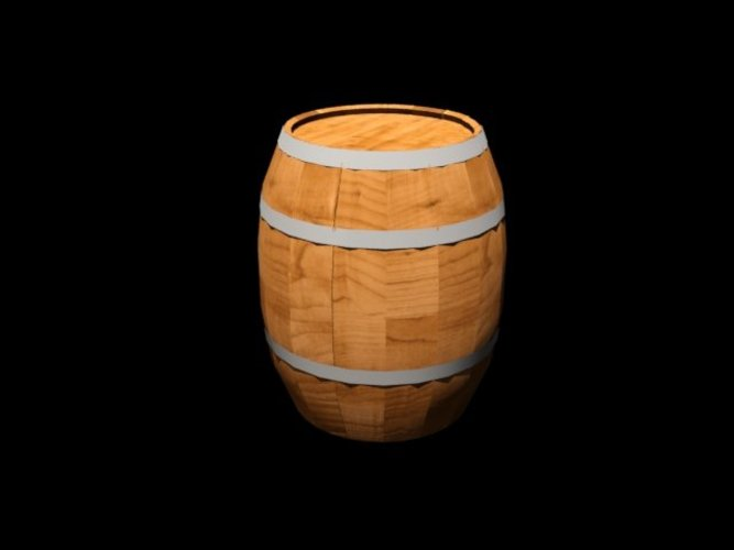 An old medieval barrel 3D Print 39065