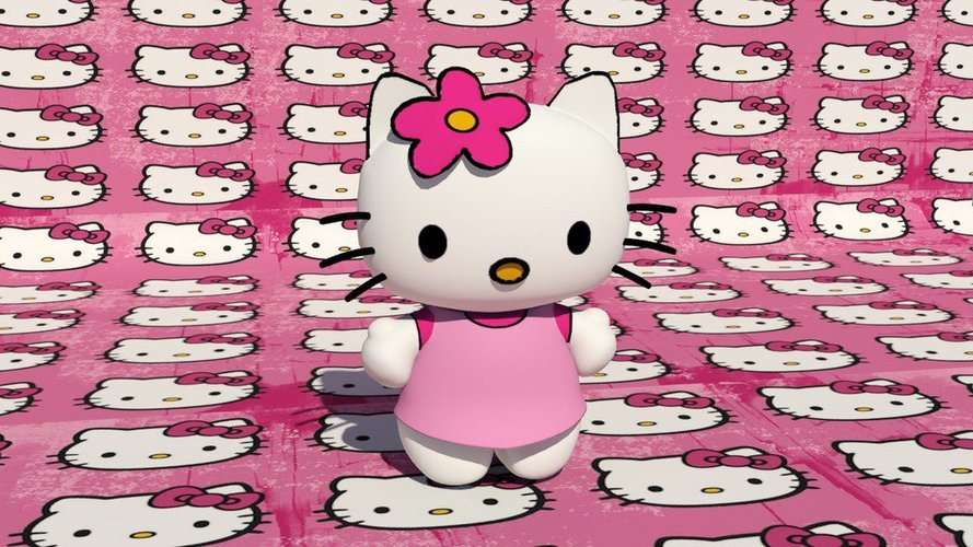 Hello Kitty Character 3D Print 39074