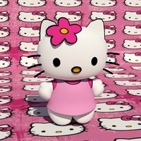 Small Hello Kitty Character 3D Printing 39074