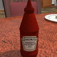 Small A generic sauce bottle 3D Printing 39082