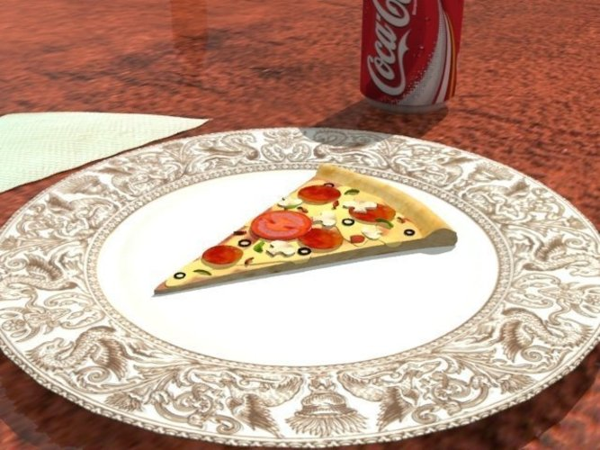 A nice tasty slice of pizza ! ~Intended as plastic model 3D Print 39087