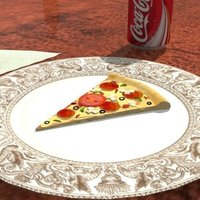 Small A nice tasty slice of pizza ! ~Intended as plastic model 3D Printing 39087