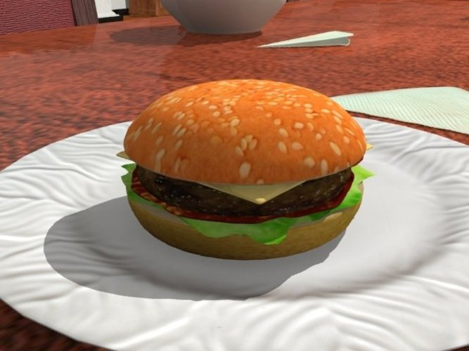 A nice juicy hamburger! (plastic model only) 3D Print 39089