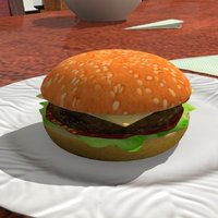 Small A nice juicy hamburger! (plastic model only) 3D Printing 39089