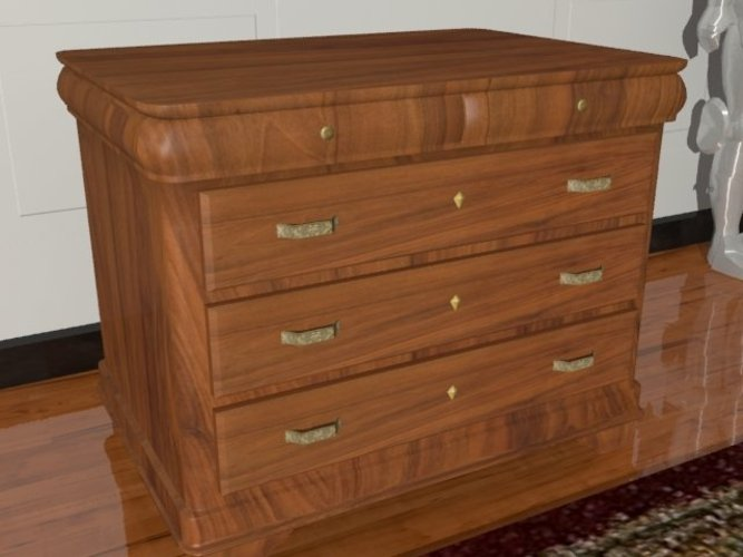 A wooden chest of drawers 3D Print 39090