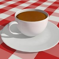 Small A cup of coffee 3D Printing 39097