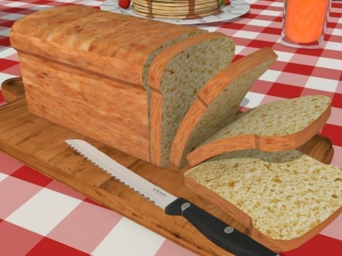 A loaf of bread 3D Print 39098