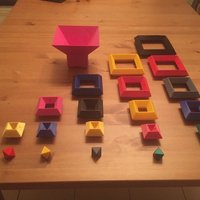Small 3D cube puzzle toys 3D Printing 39204