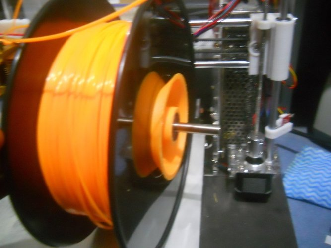 Adjustable threaded filament spool holder 3D Print 39281