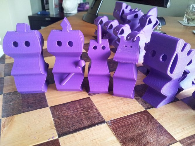 ChesSapiens chess set 3D Print 39322
