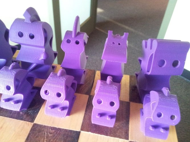 ChesSapiens chess set 3D Print 39324