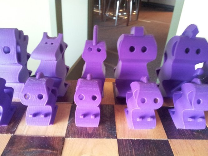 ChesSapiens chess set 3D Print 39325