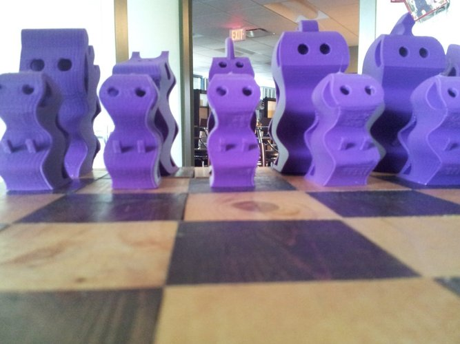 ChesSapiens chess set 3D Print 39326