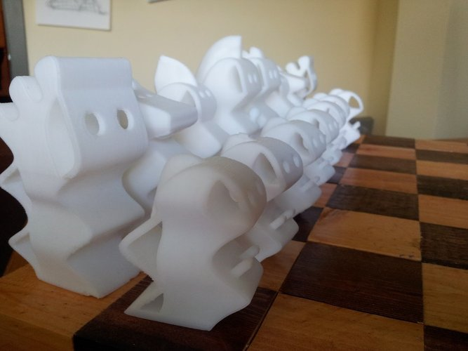 ChesSapiens chess set 3D Print 39328