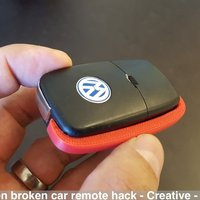 Small Volkswagen broken car remote hack 3D Printing 39340