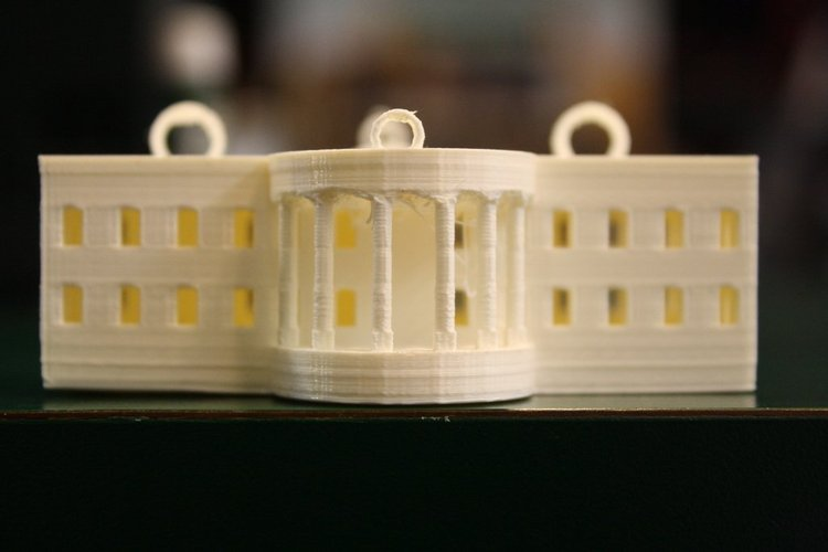 White House Ornament 3D Print 39347