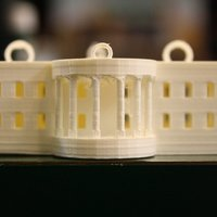 Small White House Ornament 3D Printing 39347