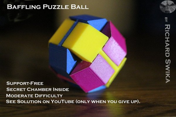 Medium Baffling Puzzle Ball 3D Printing 39504