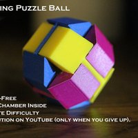 Small Baffling Puzzle Ball 3D Printing 39504