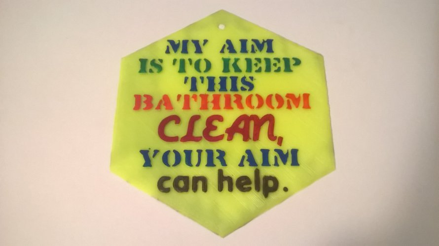Aim Clean Sign 3D Print 39520