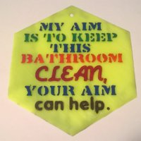 Small Aim Clean Sign 3D Printing 39520