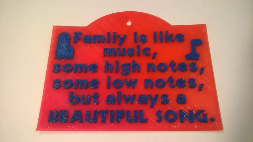 Family Music Sign 3D Print 39521