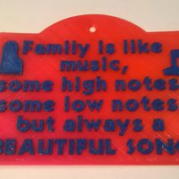 Small Family Music Sign 3D Printing 39521