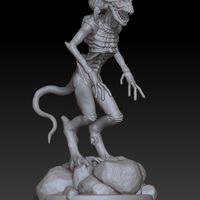 Small Demon Creature 3D Printing 3953
