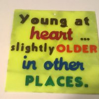 Small Young At Heart sign 3D Printing 39534